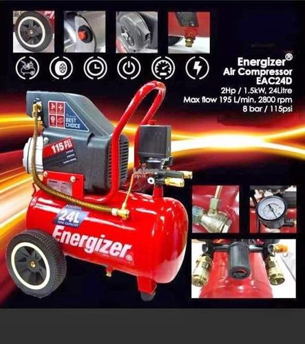 compresor de aire energizer 24/25 litros 2hp 8 bar p pintar