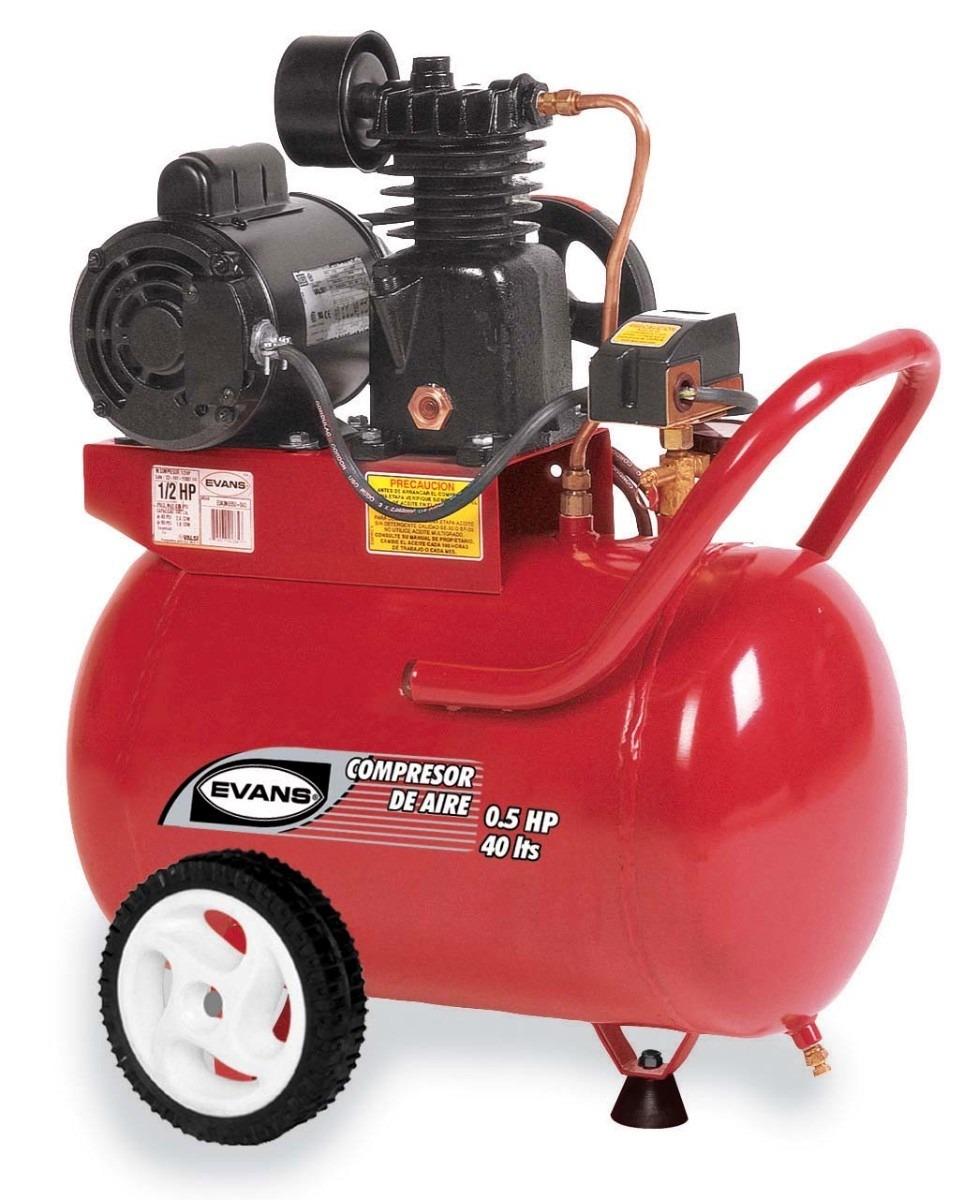 compresor de aire. compresor de aire evans 0.5hp 40l mod. e040me050-040 u