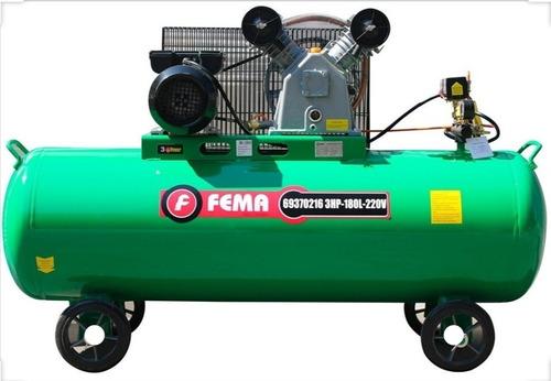 compresor de aire fema 180 litros 3 hp monofasico 220v