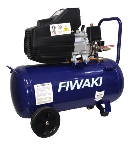 compresor de aire fiwaki 50l 2 hp transportable + kit 5pieza