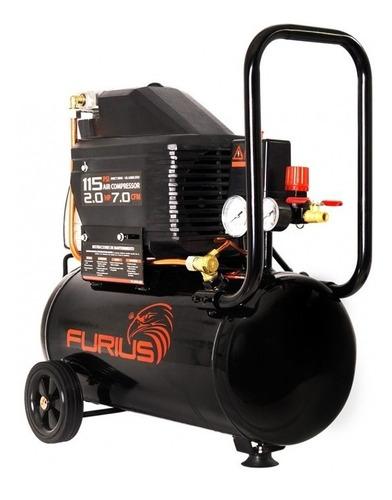 compresor de aire furius 2hp 115psi 25lts 7.0cfm 110v fc25