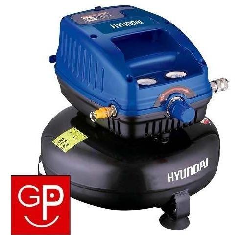 compresor de aire hyundai sin aceite 12lts 1/3 hp g p