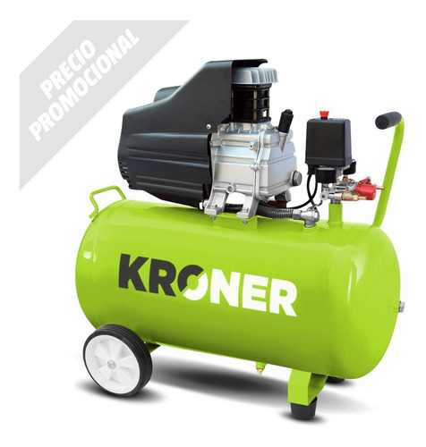 compresor de aire kroner 2,5 hp 50 litros garantía 6 meses