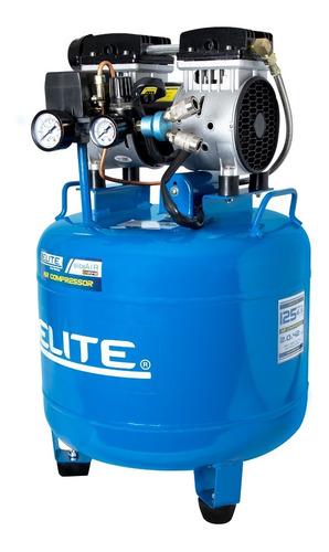 compresor de aire libre de aceite elite bajo ruido 2hp. 42l