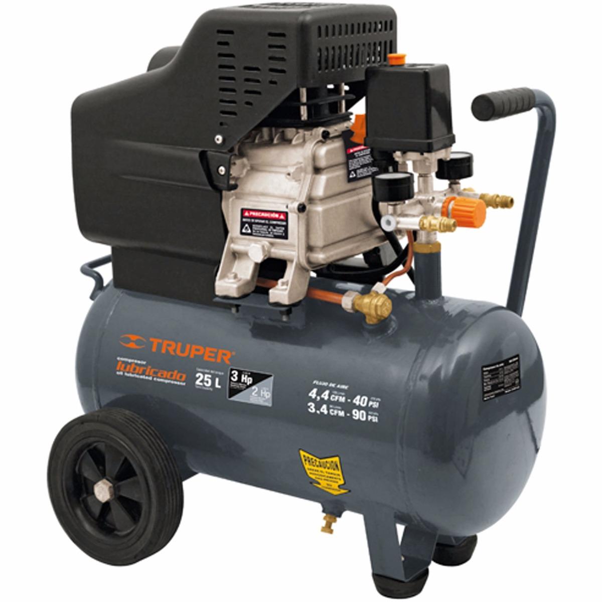 compresor de aire lubricado 25 litros truper 19010