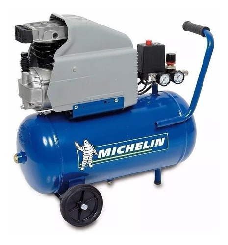 compresor de aire michelin 2 hp 24 litros pintar inflar +kit