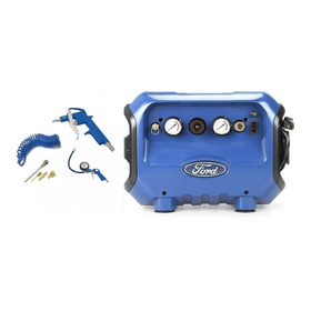 Compresor De Aire Mini 300w 6lts + Kit De Accesorios Ford