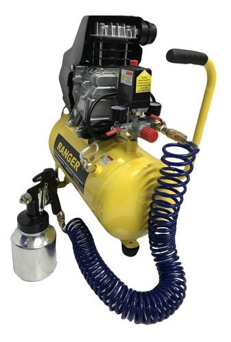 compresor de aire + pistola pintar + manguera y acoples