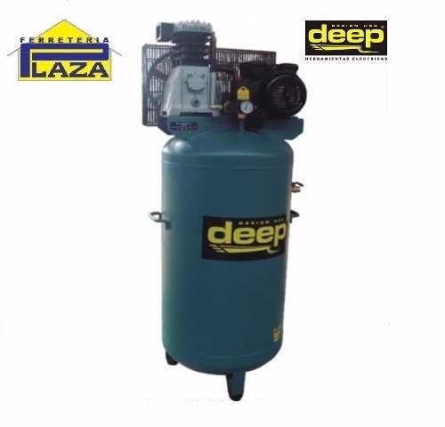 compresor de aire polea vertical 200 lts 3hp deep d6520