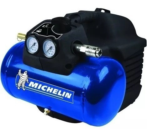compresor de aire portatil 1,5 hp 8 bar 6 lts michelin 220 v