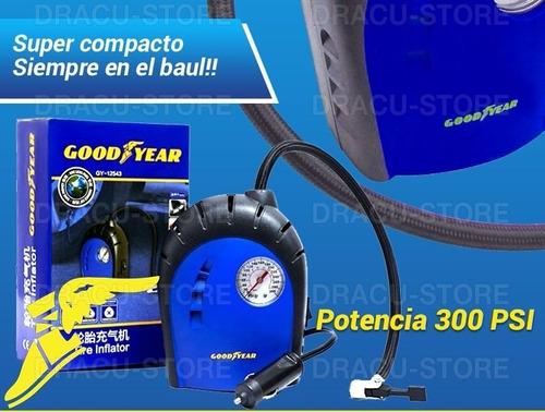 compresor de aire portatil goodyear rueda auto moto gyac2010