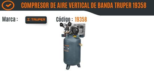 compresor de aire vertical de banda 120 l/4 hp truper 19358