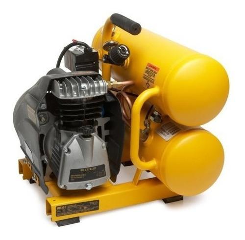 compresor dewalt d55151 doble tanque 1.1hp 4gl lubric 3.2cfm