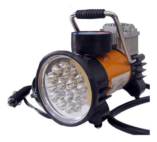 compresor digital alta potencia con linterna 18 leds metal