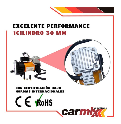 compresor digital linterna 18 led auto 4x4 camioneta metal