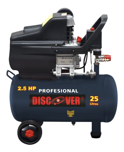 compresor discover 25 lit 6.3 galones 8.9 cfm 3.5 hp jn 34