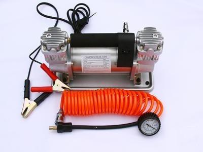 compresor doble cilindro 150 litro x min c/manometro y bolso