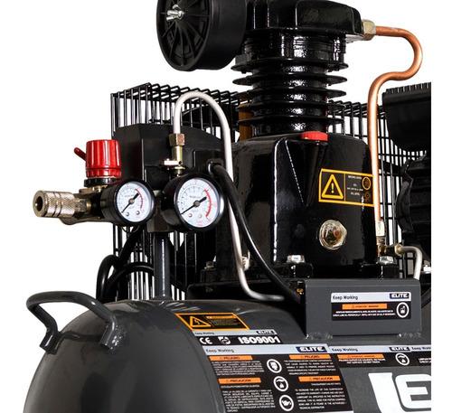compresor elite de aire de polea de 1hp, 40 litros, 115 psi