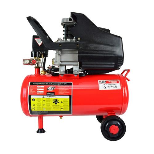 compresor goni 2 hp 24 lts 160 lpm lubricado envio gratis