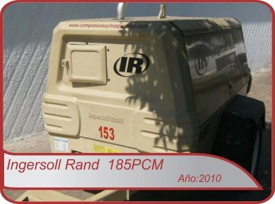 compresor ingersoll rand p185 2007 solo 3247 hrs de uso