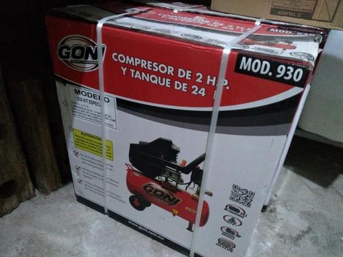 compresor lubricado goni 930 2 hp con tanque de 24 litros