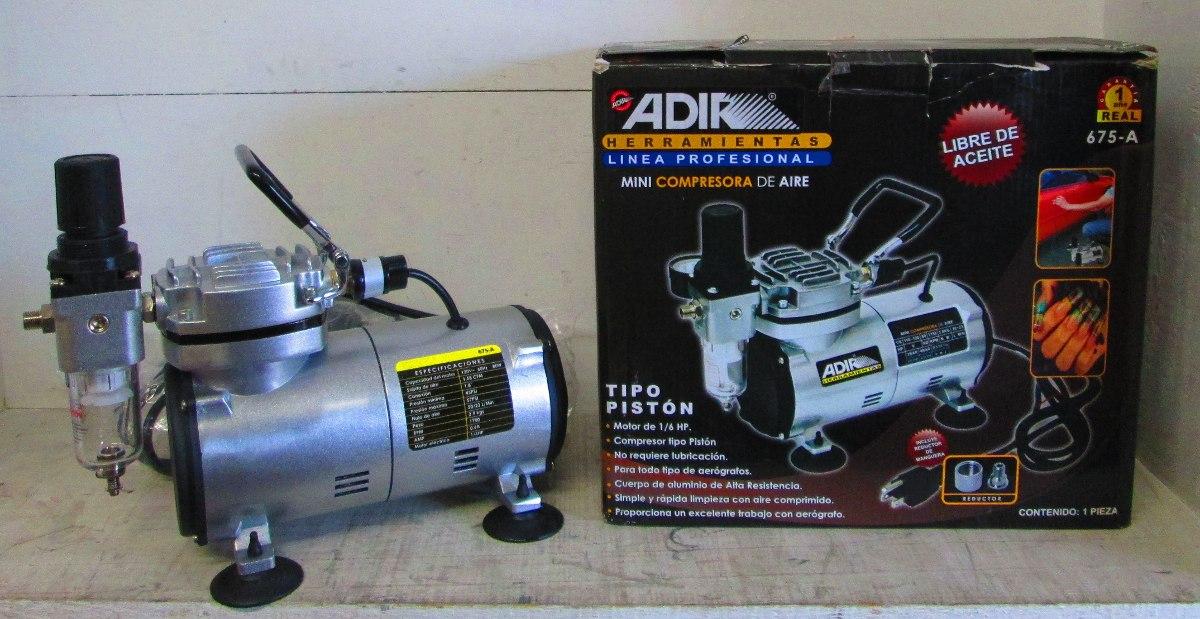 Compresor para aer grafo libre de aceite 1 6 hp 3 899 for Aceite para compresor