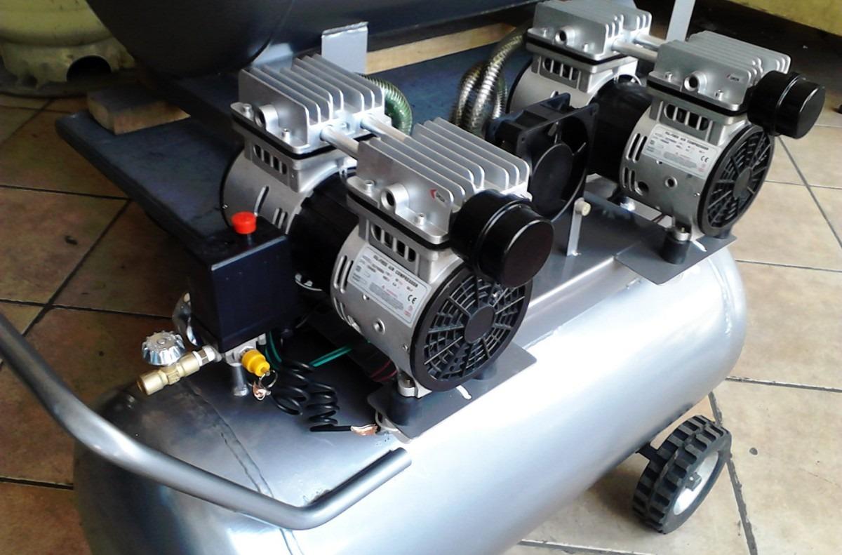 Compresor para aire silencioso 2 5 hp 120 litros 4 for Compresor de aire silencioso