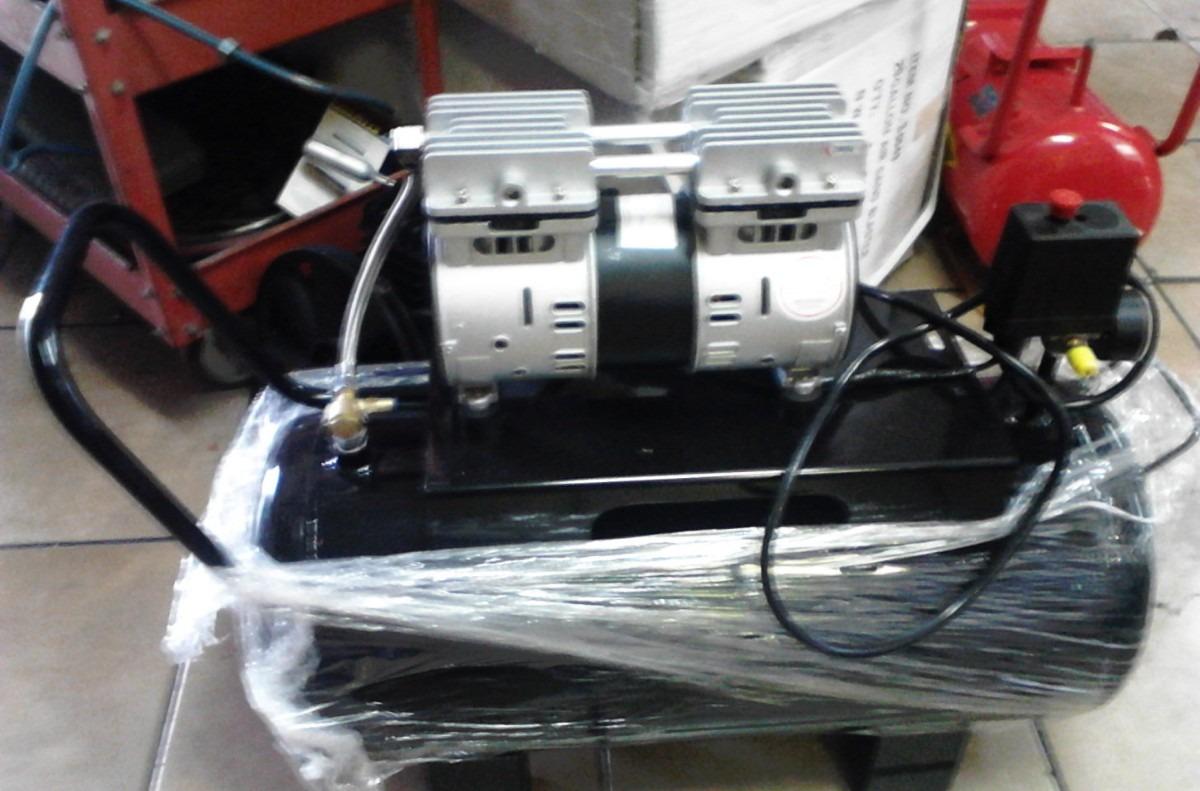 Compresor para aire silencioso libre de aceite de 1 hp 50 for Compresor de aire silencioso