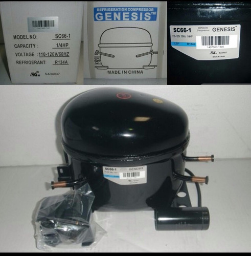 compresor para nevera de 1/4 hp r134 110v genesis (nuevos)