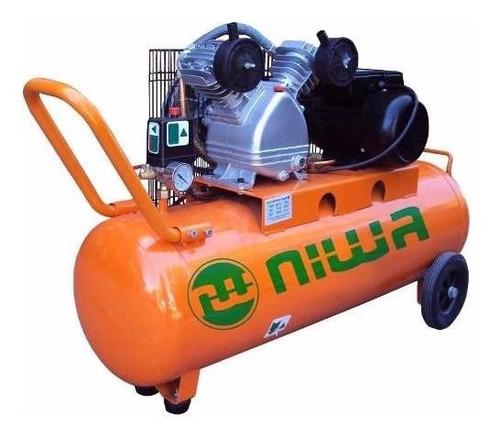 compresor por correa con cabezal 2hp 100lts acw-100 niwa