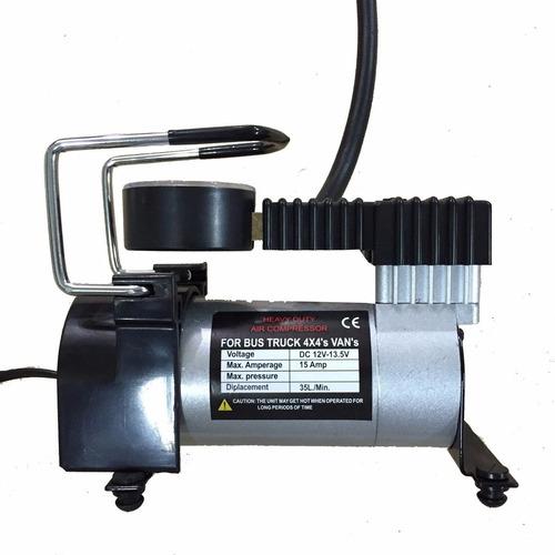 compresor portatil 12v de aire  autos metalico pick up 4x4