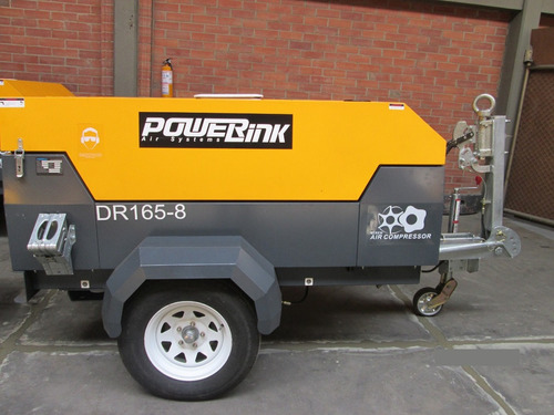 compresor portatil diesel powerlink 170 cfm - usado