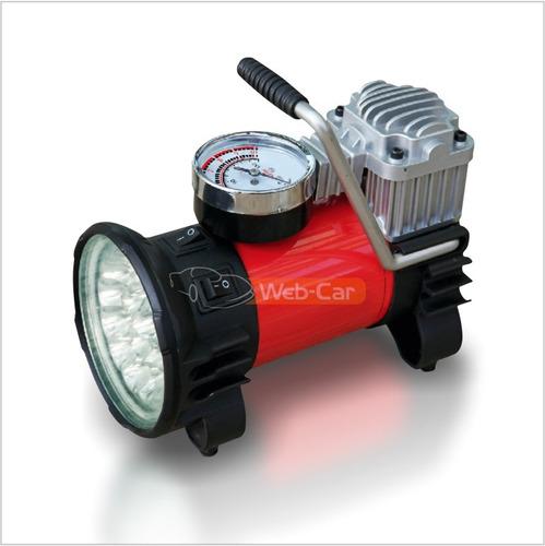 compresor quickly alta potencia con linterna 18 leds + bolso