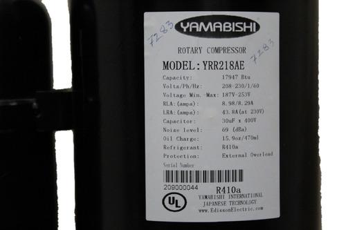 compresor rotativo de 18.000 btu gas r-410a