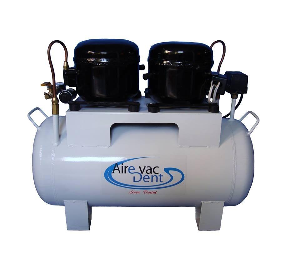 Compresor silencioso dos motores de 1 3 4 en for Compresor de aire silencioso