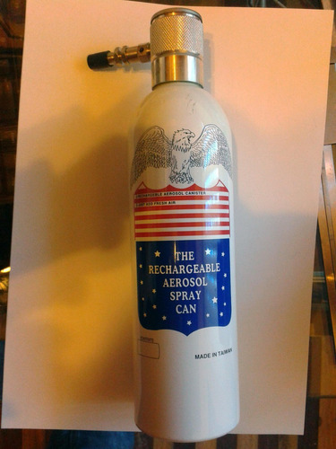 compresor spray aerosol portatil recargable 16 oz multiusos