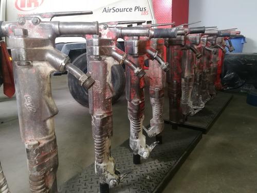 compresor y martillo neumático para demolición