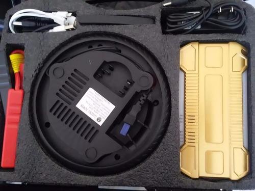 compresora de aire con batería para autos, celulares y más