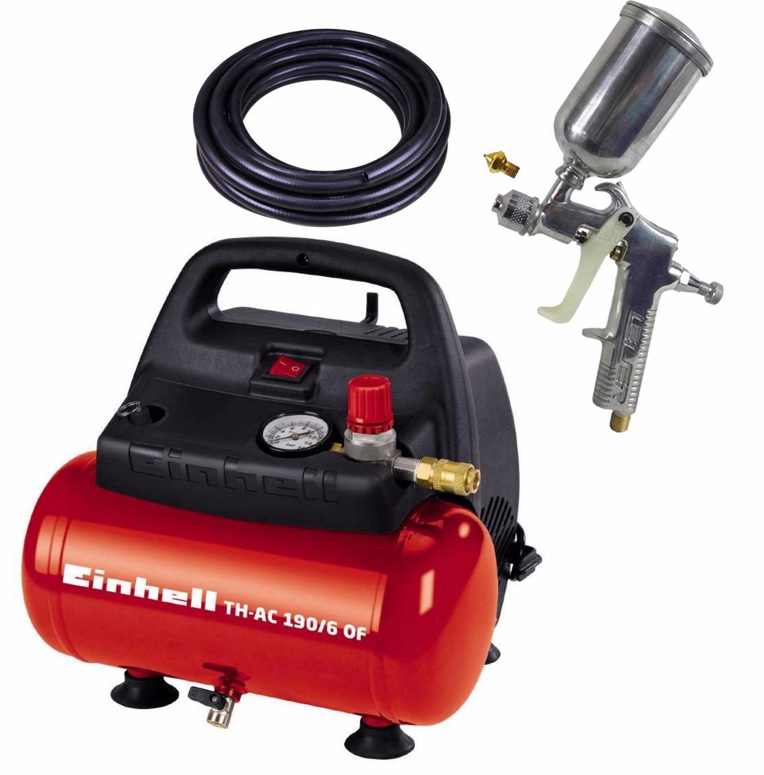 Compressor 110v 6l th ac190 6 of einhell kit pintura r - Compresor 6 litros ...