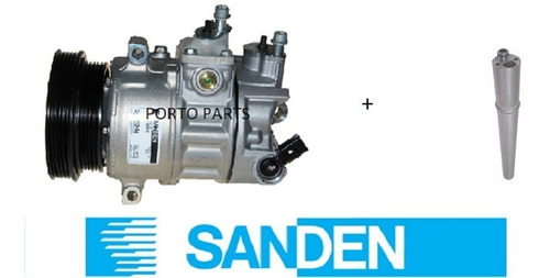 compressor ar cond jetta 2.5 original + filtro 2007 à 2012