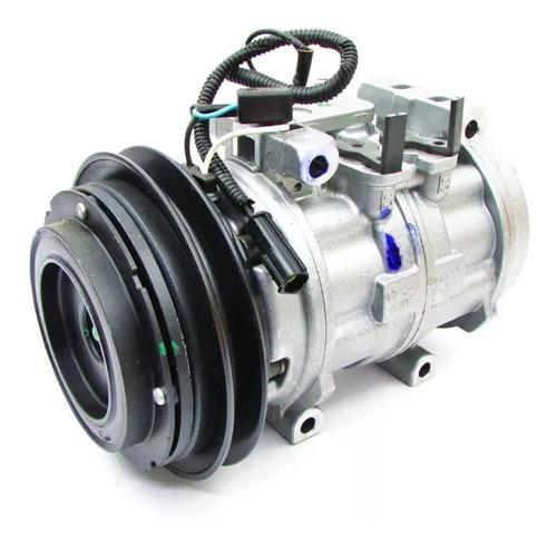 compressor ar cond l200 gl gls 2.5 10p15 original 4 fixações