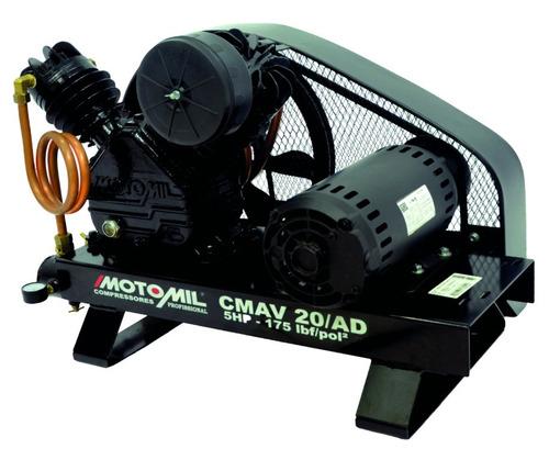 compressor ar dir poço artesiano 5hp 20pés trifasico motomil