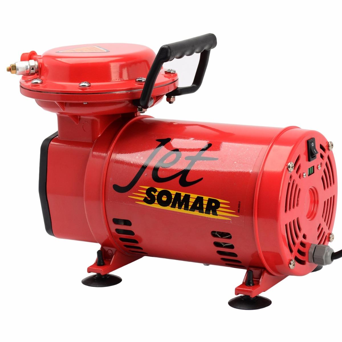 compressor ar direto 1  3 cv   kit jet pistola 10023000