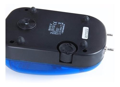 compressor bomba de ar boyu s-2000a 2x4,2l/min 110v aquario