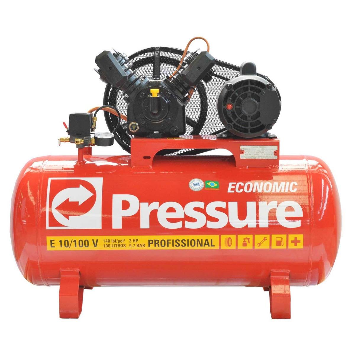 db4aa1960 compressor de ar 10 pés 100 litros economic pressure. Carregando zoom.