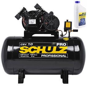Compressor De Ar 10pés 100l Csv10/100 2cv Mono Schulz + Óleo