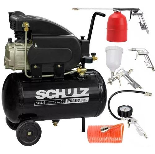 compressor de ar 8,5 pés pratic csi 8,5/25l schulz + kit