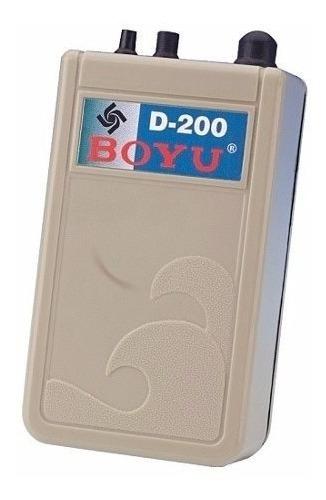 compressor de ar a pilha d-200 boyu 1,5w para falta luz