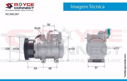 compressor de ar  hyundai tucson 4pk halla + filtro secador