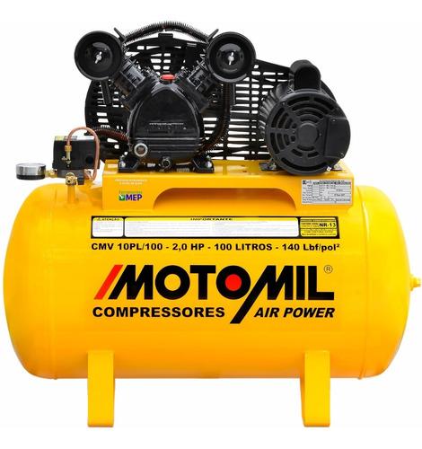 compressor de ar p/ pintura automotiva 10 pcm 100 l cm1